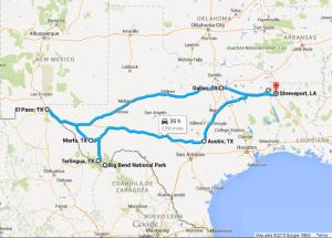 Texas Roadtrip Map 2